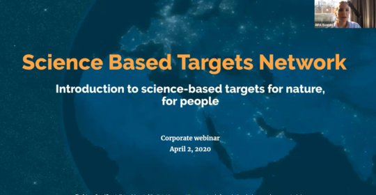 setting science-based targets for nature