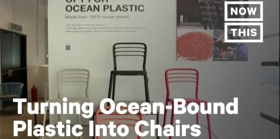 Volunteers Divert Ocean-Bound Plastic Into Recycled Furniture
